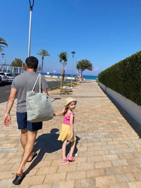 Emilka na pláž